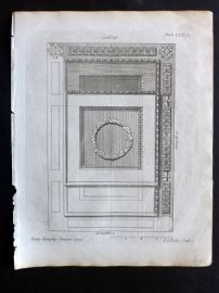 Langley 1777 Antique Architectural Print. Ceiling 167